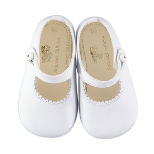Soft Leather Baby 'Lucy' Shoes - White