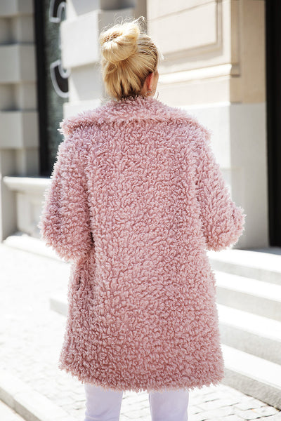 """Pretty in Pink"" Faux Fur Coat"