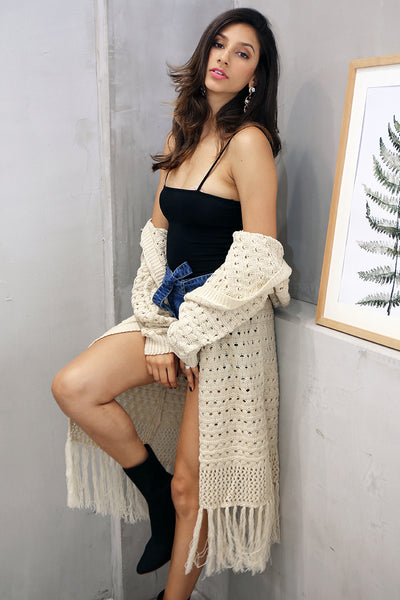 """Stitch Me Up"" - Long Knit Cardigan"