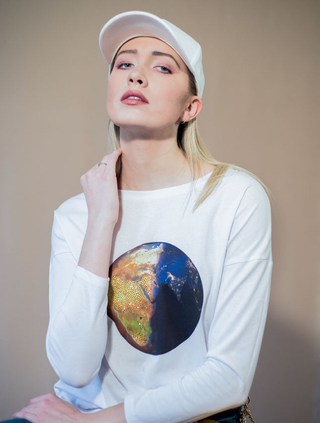 Gold Earth Lover Long Sleeve T- Shirt