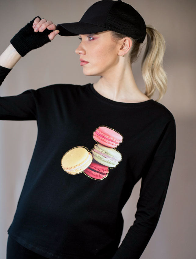 Yummy Macarons Long Sleeve T-Shirt