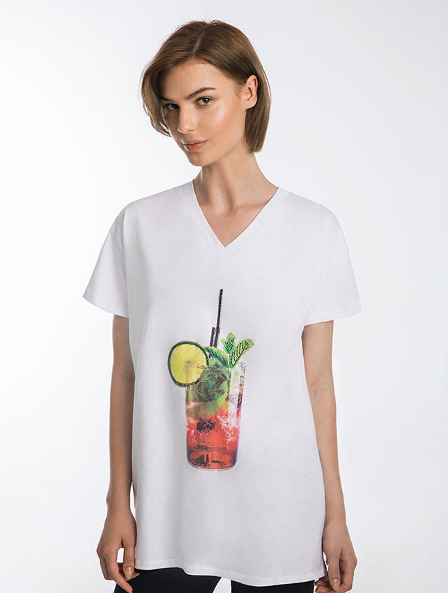 Mojito Cocktail T-Shirt Dress
