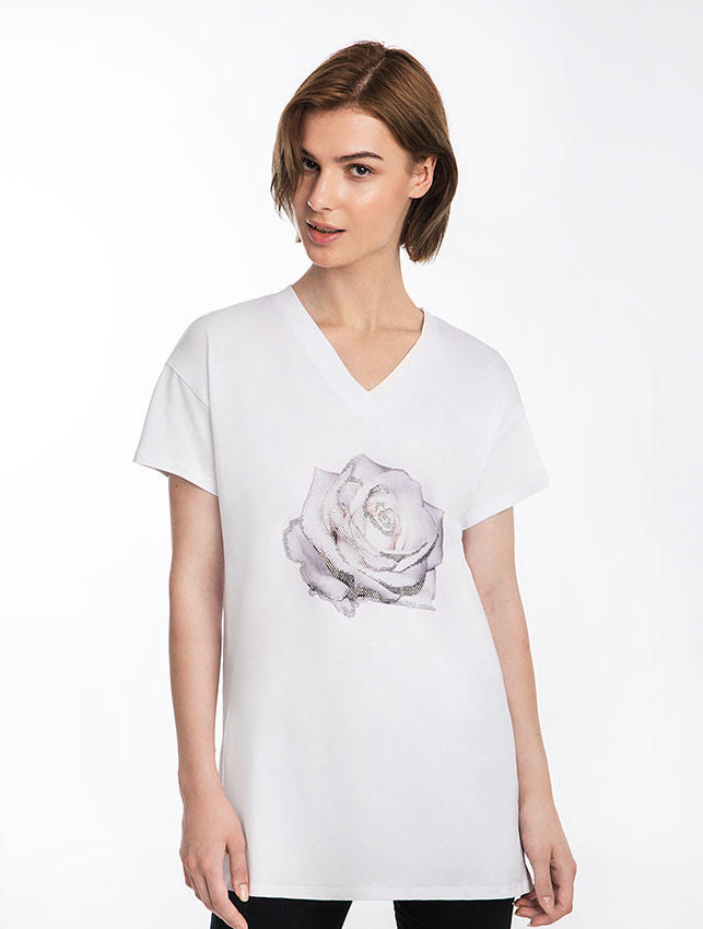 White Rose Essential T-Shirt Dress