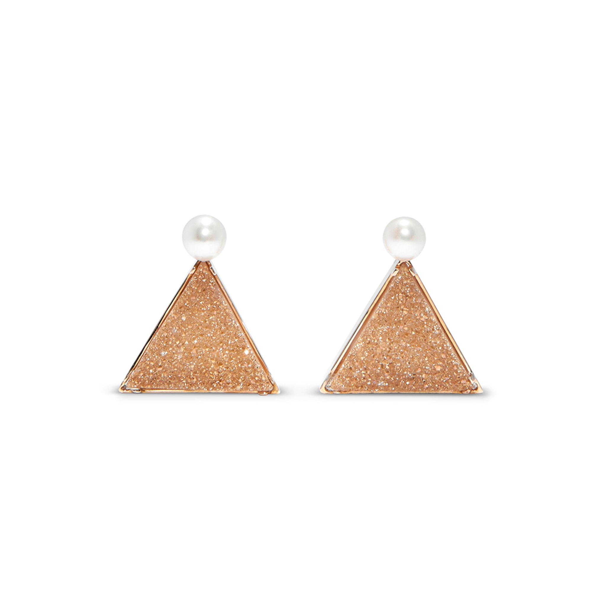 Sparkling Tan Earrings