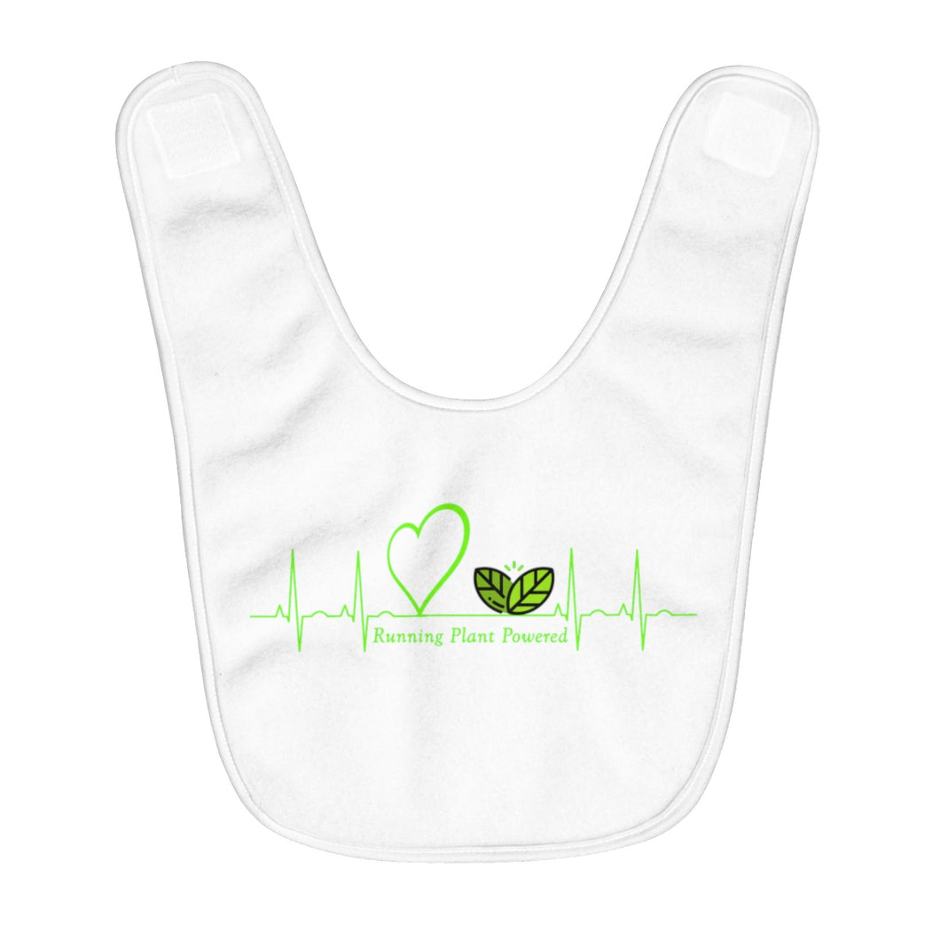 EKG Fleece Baby Bib