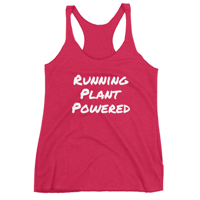 Running Plant Powered Women's Racerback Tank