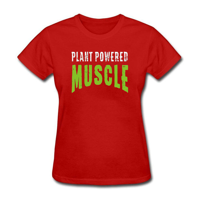 Womens Plant Powered Muscle T Shirt