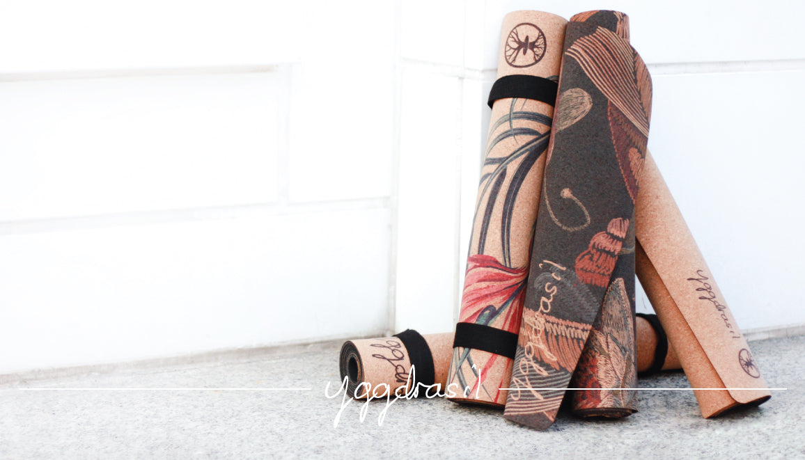 Eco-friendly cork yoga mats with amazing prints | Yggdrasil by sweden