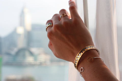 Delicately Connected Bracelet - Gold & Stainless Steel