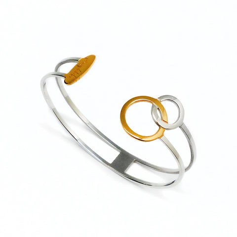 Connected Bracelet - Gold & Stainless Steel