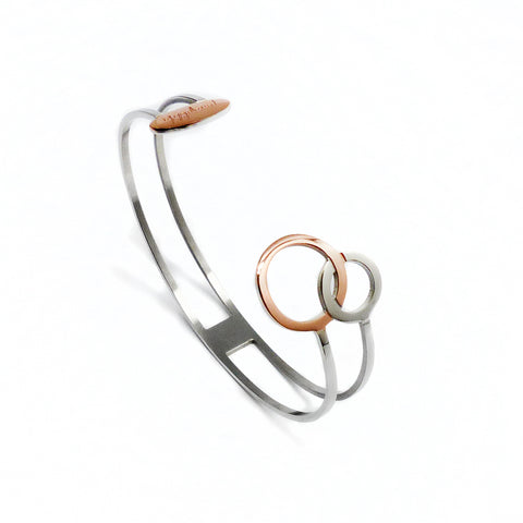 Connected Cuff Bracelet - Rose Gold & Stainless Steel | Yggdrasil by Sweden jewelry / smycken stelt armband