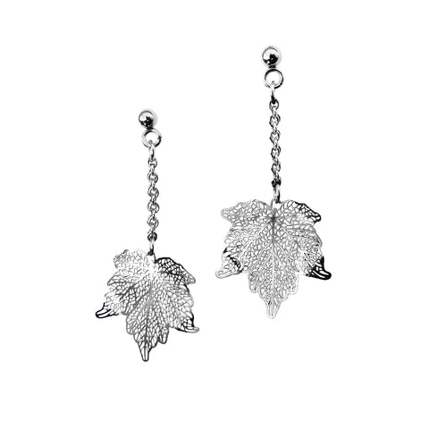 Nature Divine leaf Earring Mini - Stainless Steel | Yggdrasil by Sweden jewelry / smycken små örhängen löv