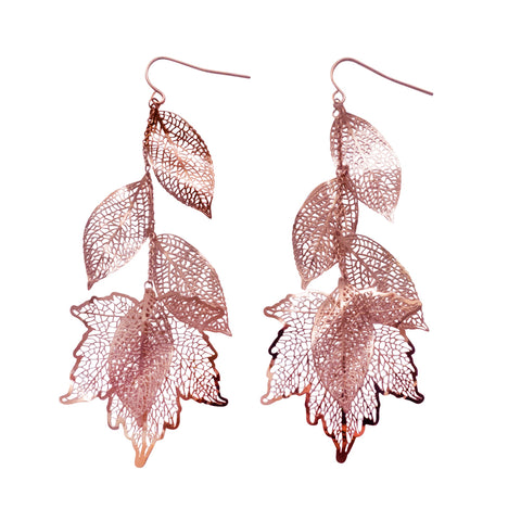 Nature Divine Earring - Rose gold