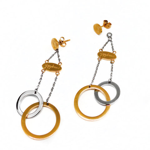 Connected Earring - Gold & Stainless Steel