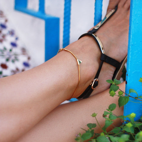 Anklet Delicate Balance Mini - Gold