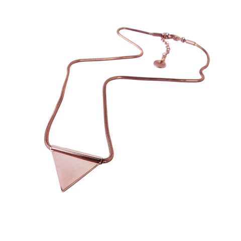Necklace delicate balance midi - Rose gold