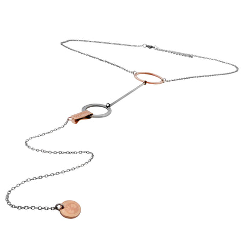 Connected B-Unique Necklace - Rose Gold & Stainless Steel