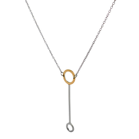 Delicately Connected Necklace - Gold & Stainless Steel