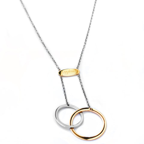 Connected Necklace - Gold & Stainless Steel