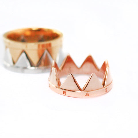 Stack-able Ring Delicate Balance - Rose Gold plated steel | Yggdrasil by Sweden jewelry / smycken stapelbar ring går ihop