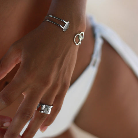 Stack-able Ring Delicate Balance - Stainless Steel | Yggdrasil by Sweden jewelry / smycken stapelbar ring går ihop