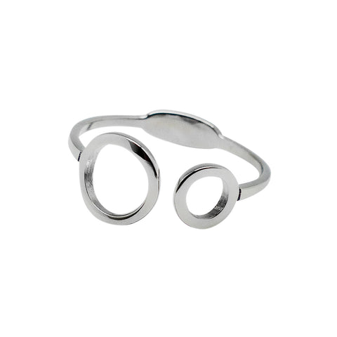 Delicately Connected Ring - Stainless Steel
