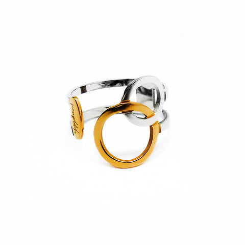 Connected Ring - Gold & Stainless Steel
