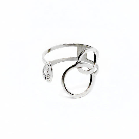 Connected Ring - Stainless Steel, adjustable size. | Yggdrasil by Sweden jewelry / smycken ställbar ring