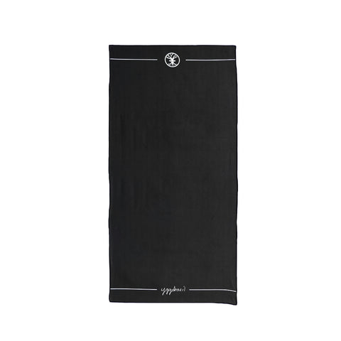 Microfiber sport and yoga towel with print Black canvas