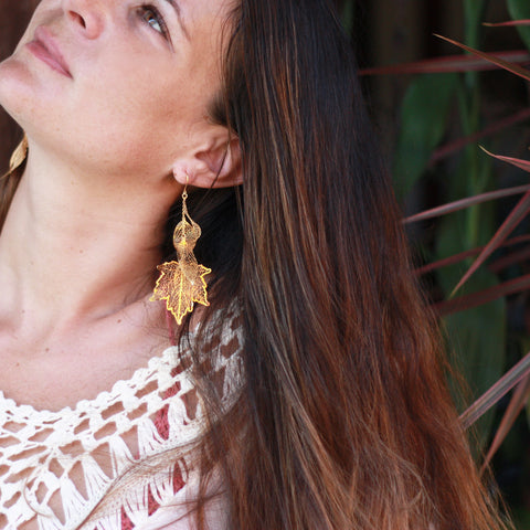 Nature Divine Earring  - Gold plated steel
