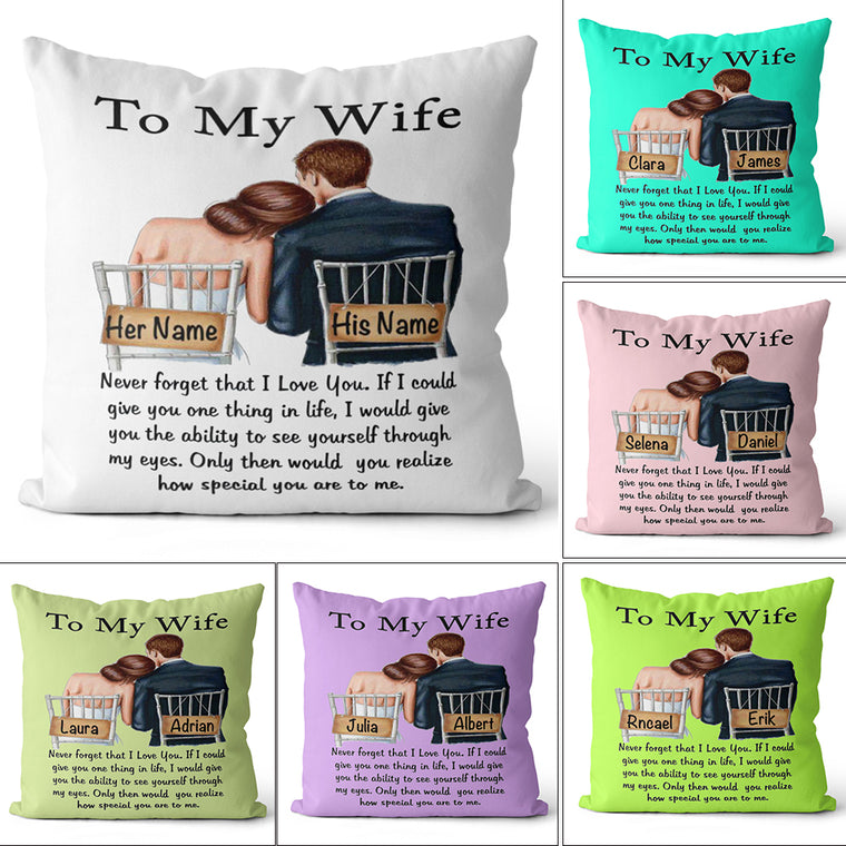 Personalized To My Wife/Husband Pillowcase With Custom Names