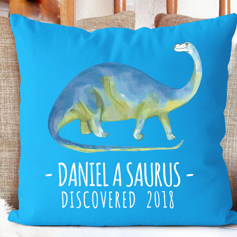 Personalized Dinosaur Name Pillowcase, Custom Dinosaur Kids Bedroom Decor III