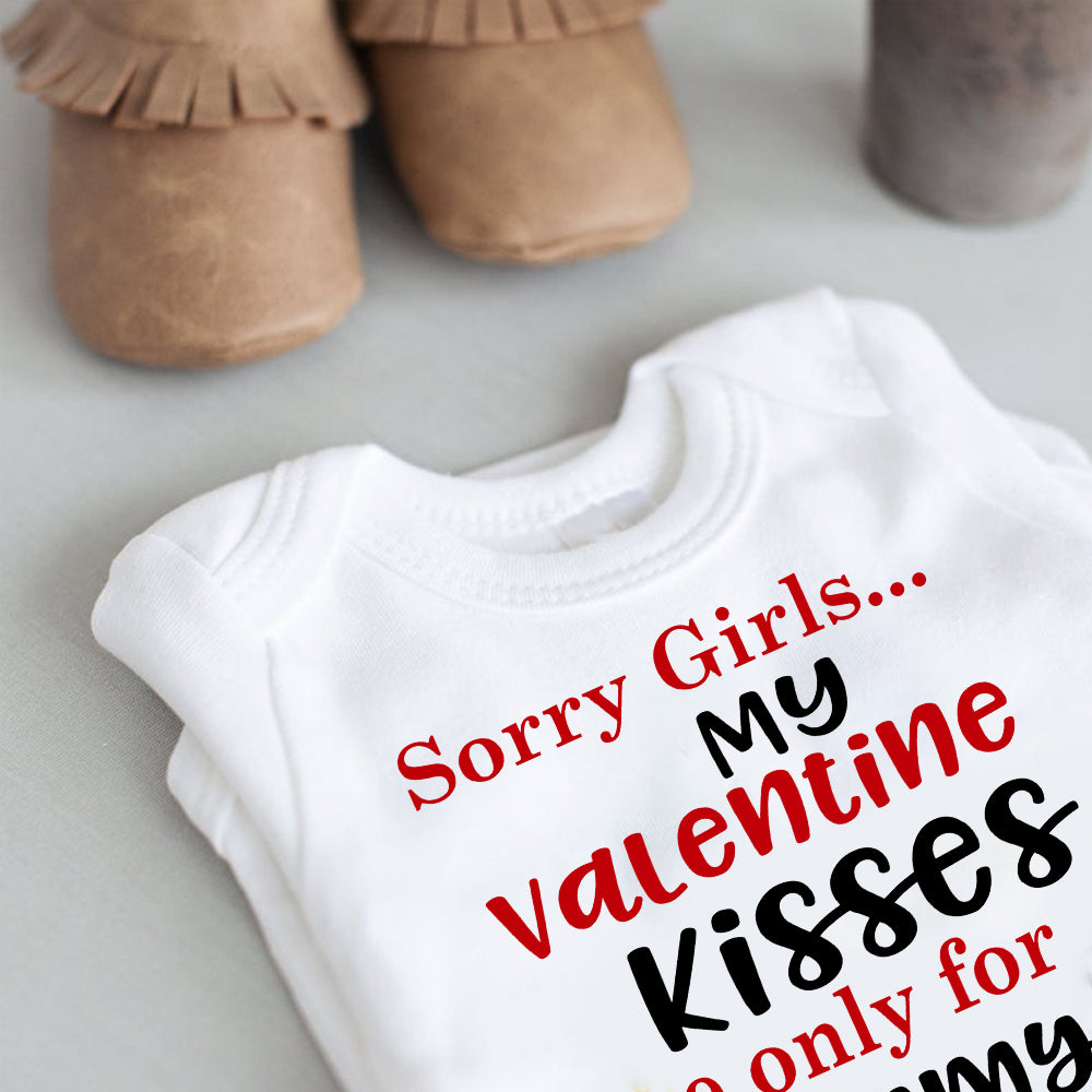 Personalized Name Baby Boy Valentine's Day Onesie III