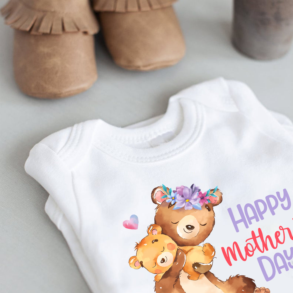 Custom Bears Mother's Day Baby Onesie