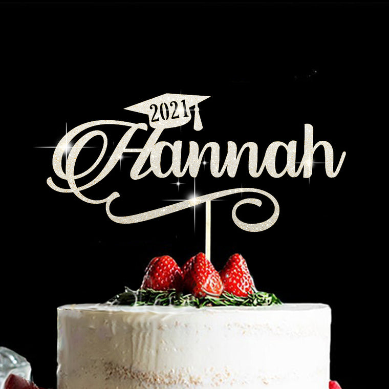Personalized Cake Topper for Graduation V, Custom Gift fort Class of 2021