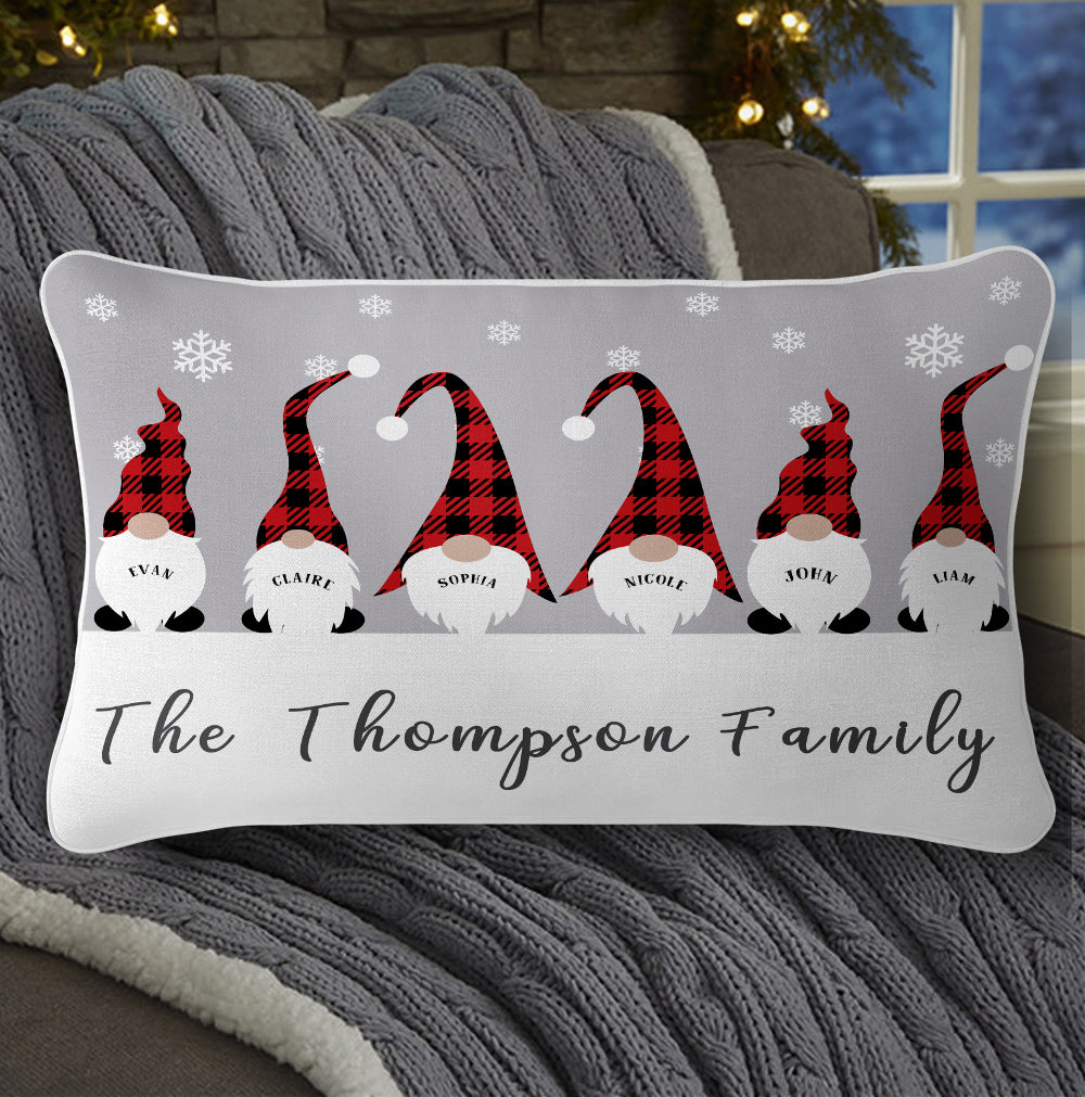 Personalized Christmas Gnomes Family Pillowcase With Name II