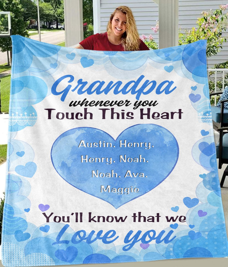 Personalized Peach Heart Blankets with Your Nick & Kids' Names
