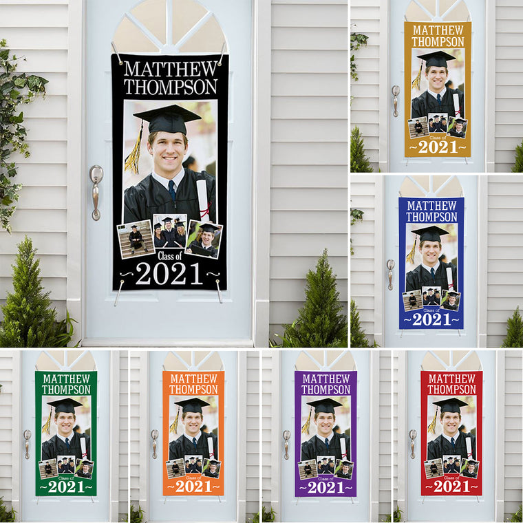 Custom Name and Photo Graduation Door Banner