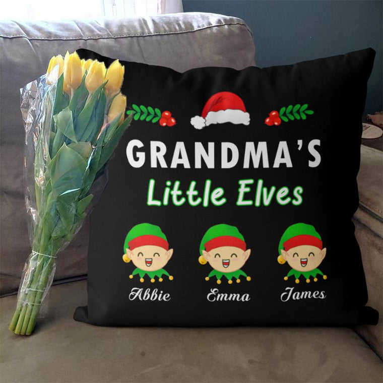 Personalized Little Elves Christmas Family Member Pillowcase With Name