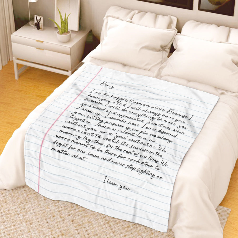 Personalized Love-Letter Valentine's Day Blanket