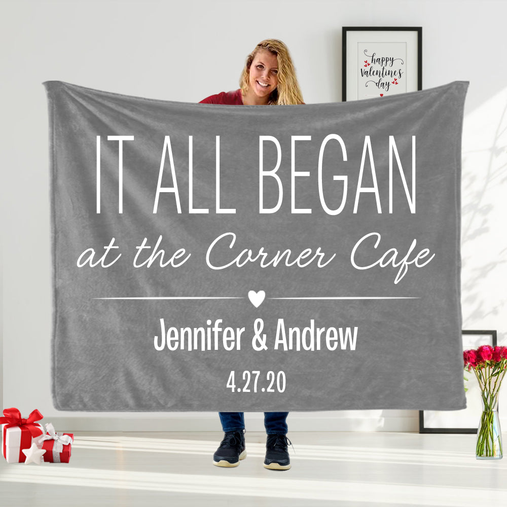 Personalized To My Other Half Blanket, Valentine's Day Gift Idea