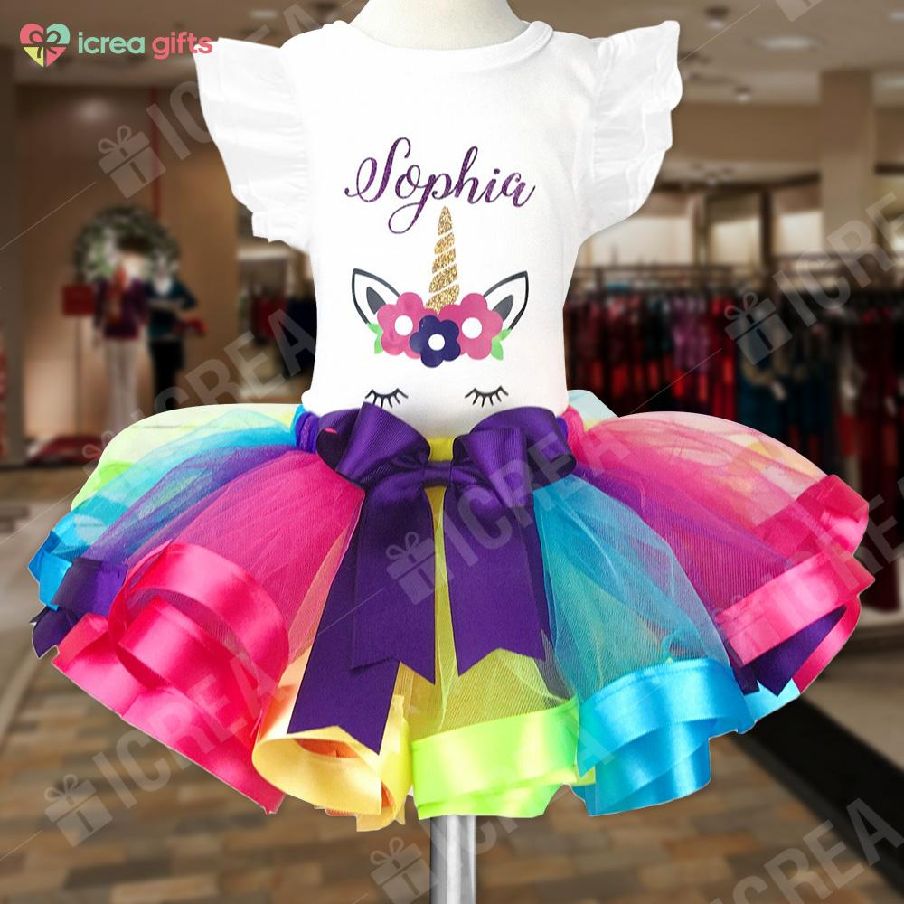 Personalized Unicorn Party Outfit For Girls