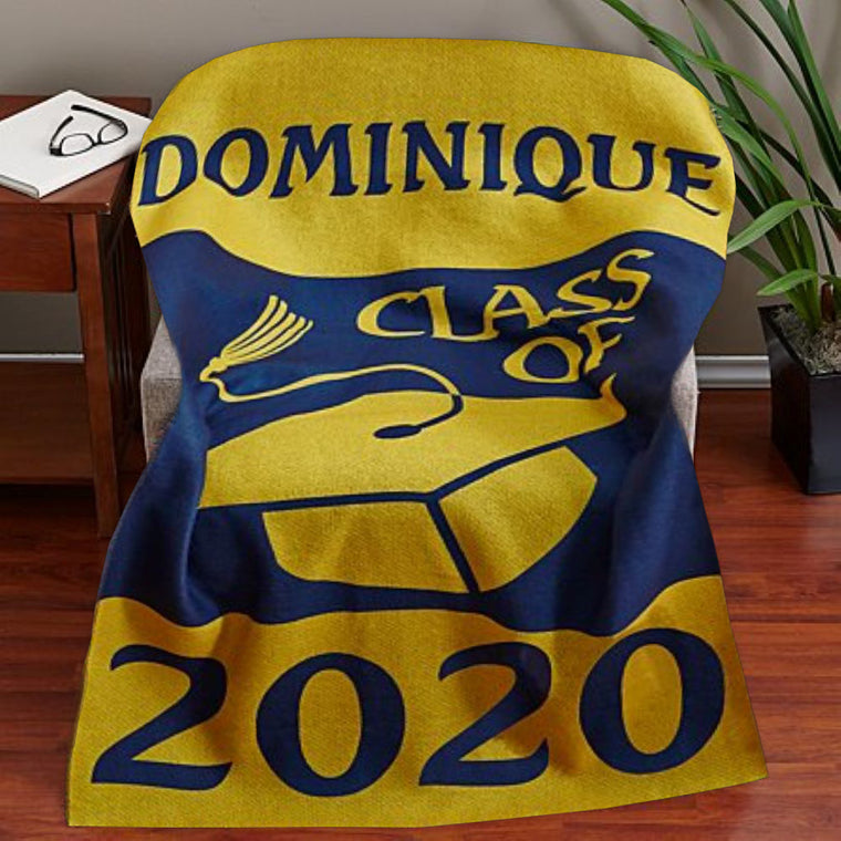 Custom Graduation Fleece Blanket
