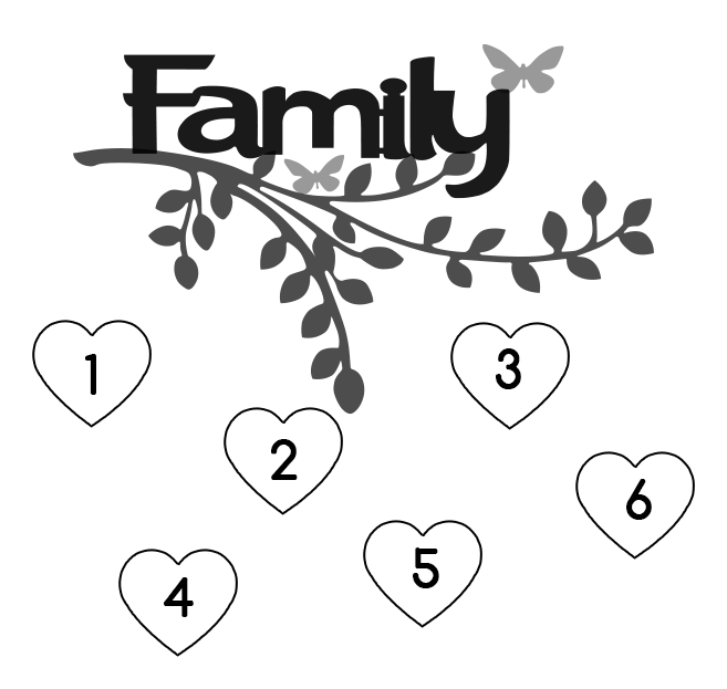 Personalized Family Tree Keepsake with Names (1-10 Names Available)