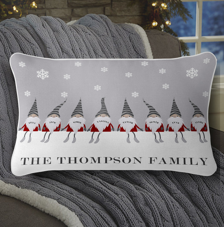 Personalized Christmas Gnomes Family Pillowcase With Name III