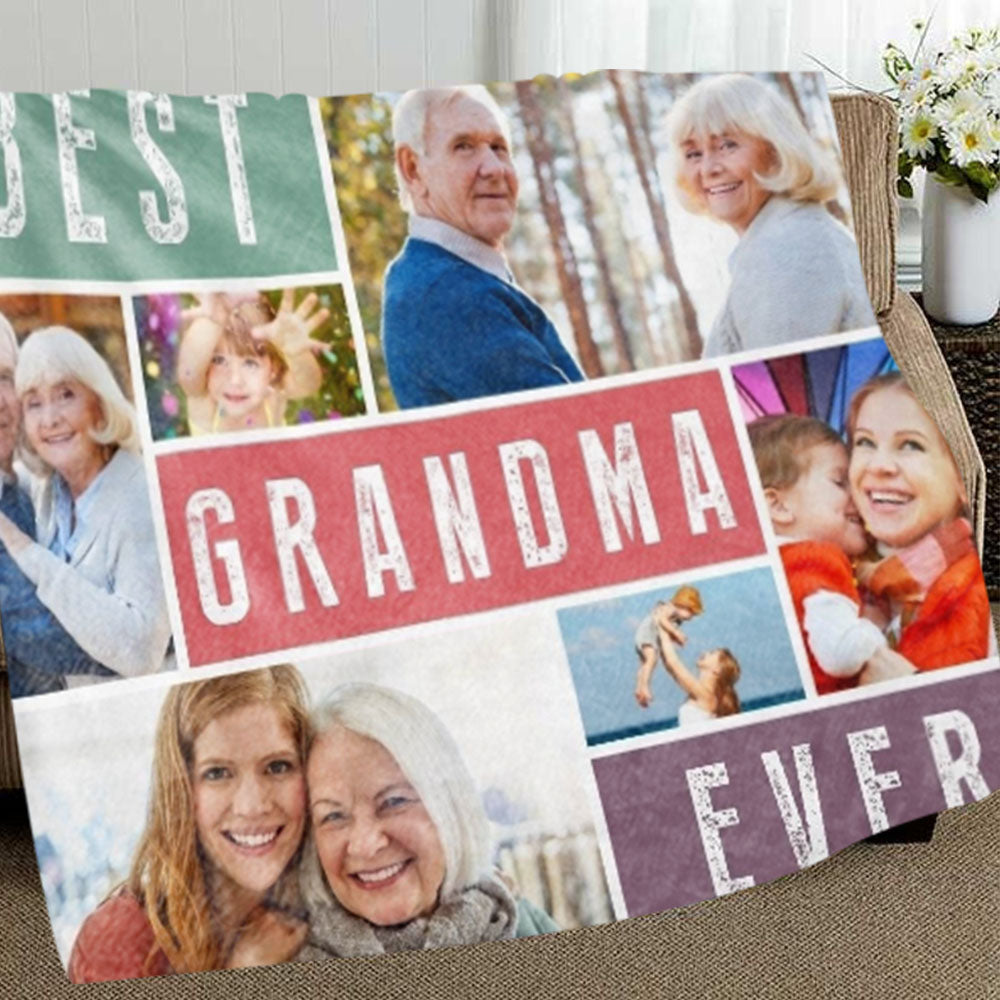 Personalized Family Photos Collage Blanket