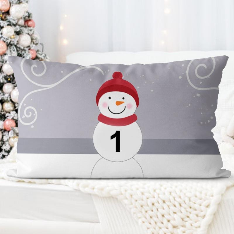Personalized Snowman Family Pillowcase With Name