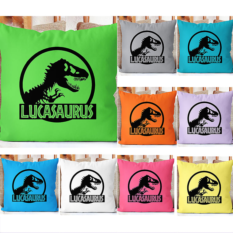 Personalized Tyrannosaurus Rex Name Pillowcase, Custom Dinosaur Kids Bedroom Decor I
