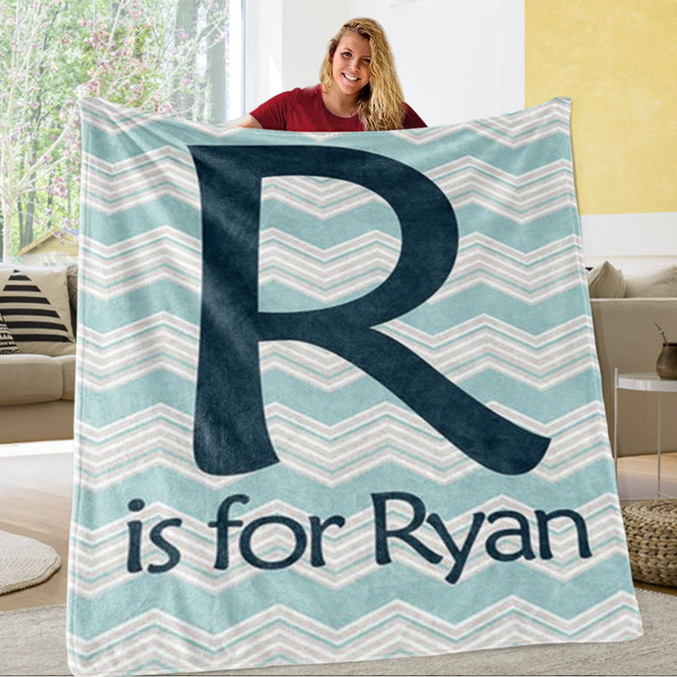 Personalized Monogrammed Newborn Baby Name Blanket