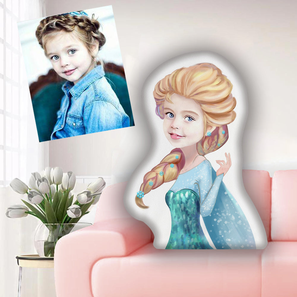 Custom Hand-drawing Kid Portrait Photo Shaped Pillow-Best Gift for Kids VI